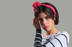 Beautiful Girl with Hair Band Royalty Free Stock Images