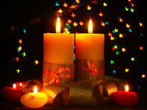 Beautiful candle Stock Photography