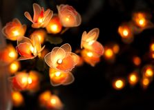 Beautiful candle with dark background Stock Photo