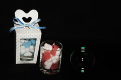 Beautiful candle gift Stock Images