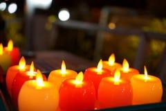 Beautiful candle light at night A beautiful candle light at night at dinner time royalty free stock photo