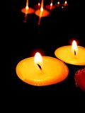 Beautiful candles Stock Photo