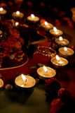 Beautiful candles Stock Images
