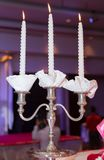 Wedding candles Stock Images