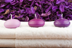 Beautiful candles in spa (2) Stock Image