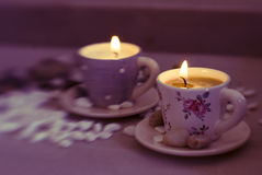 Beautiful candles Stock Photos