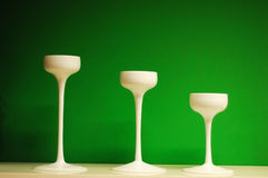 Candlestick in a row Stock Photography