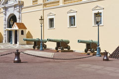 Beautiful cannon near Prince's Palace of Monaco Stock Image