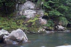 Beautiful canyon in Sochi. Rockfall Royalty Free Stock Image