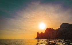 Beautiful Cape on the sea royalty free stock image