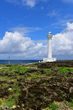 Beautiful Cape Zanpa and lighthouse in Okinawa Royalty Free Stock Photos