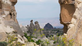 Beautiful Cappadocia lanscape stock video footage