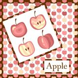 Beautiful card with apples. Royalty Free Stock Photography