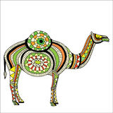 Beautiful card with camel Stock Photography