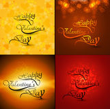 Beautiful card collections valentines day with cal Royalty Free Stock Images