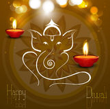Beautiful card colorful Artistic Lord Ganesha. Illustration Stock Images