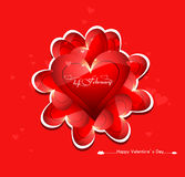 Beautiful card colorful for valentine's day heart design Royalty Free Stock Photo
