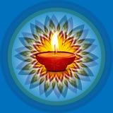 Beautiful card diwali rangoli blue background. Beautiful card diwali rangoli blue bright colorful celebration background Stock Photo