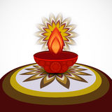 Beautiful card diwali rangoli design Royalty Free Stock Image