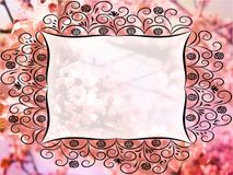 Beautiful card with empty ornate text field. stock photos