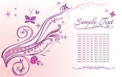 Beautiful card with  floral design Royalty Free Stock Photos