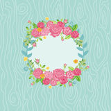 Beautiful Card with Floral Wreath Royalty Free Stock Photo