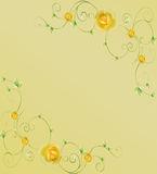 Beautiful card with flowers and leaves Royalty Free Stock Photo