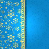 Beautiful card with flowers. Seamless background for your design royalty free illustration
