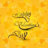Beautiful card Happy Valentines day hearts stylish Royalty Free Stock Photos