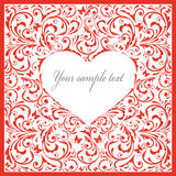 Beautiful card with heart. Stock Photography