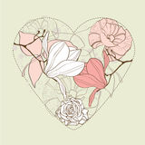 Beautiful card with heart Royalty Free Stock Photography