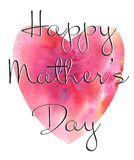 Beautiful card with hearts for sets and cards. Mothers Day vector illustration