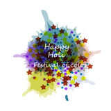 Beautiful card holi festival celebration colorful background Royalty Free Stock Image
