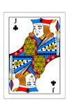 Jack of clubs. The beautiful card of the Jack of clubs in classic style Royalty Free Stock Photography