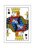 King of clubs. The beautiful card of the king of clubs in classic style Stock Photo