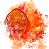 Beautiful card. Ornament card with of Maa Durga. Illustration of Happy Navratri and Happy Diwali. Perfect cards for any other kind of design, birthday and other royalty free illustration