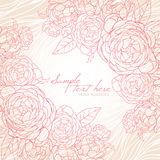 Beautiful card with pink roses Stock Photography