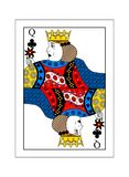 Queen of clubs. The beautiful card of the queen of clubs in classic style Royalty Free Stock Photography