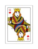Queen of hearts. The beautiful card of the queen of hearts in classic style Royalty Free Stock Photos
