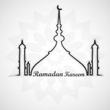 Beautiful card for ramadan kareem mosque and masjid Royalty Free Stock Photo