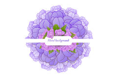 Beautiful card with a round wreath of different Stock Image