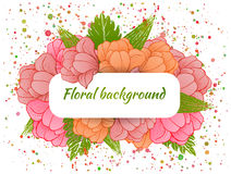 Beautiful card with a round wreath of different Royalty Free Stock Photography