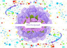 Beautiful card with a round wreath of different Royalty Free Stock Photos