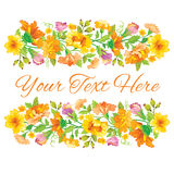 Beautiful card with spring floral design. Template card with spring floral design Royalty Free Stock Image