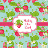 Beautiful Card - Strawberry royalty free illustration