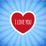 Beautiful card on Valentine's day. Beautiful card on happy Valentine's day Royalty Free Stock Image