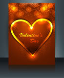 Beautiful card for valentine's day heart brochure Royalty Free Stock Photos