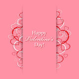 Beautiful card for Valentines Day with hearts Royalty Free Stock Photo