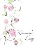 A beautiful card of Women's Day Stock Photo