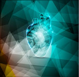 Beautiful cardiology background Stock Images